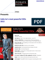 Most Powerful CEOs - India.ppsx