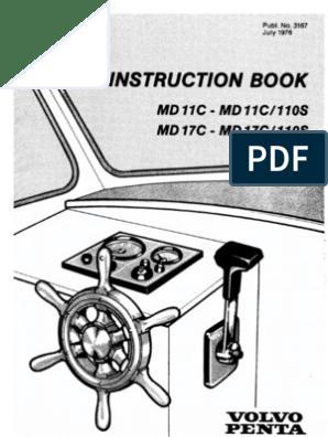 Volvo Penta MD11C User Manual | Diesel Engine | Fuel Injection