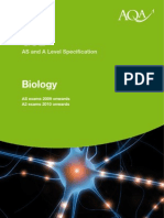 AQA a Level Biology Specification