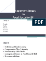 Issues in Food Security Bill