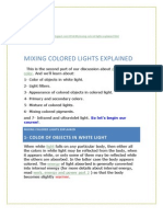 Mixing Colored Lights Explained