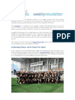 Weekly Newsletter #16 2012