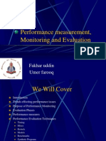Performance Mesurement Monitoring and Evaluation1 Umer & Fakhar