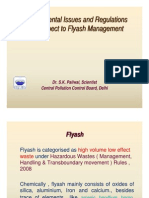 Environmental Issues and Regulations for Fly Ash Management