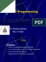 Shell Programming by Shoaib Ahmed