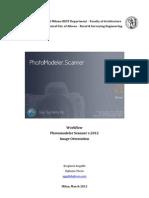 Workflow-Photomodeler v.2012-Images' Orientation