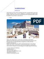 Top Ten Places to Visit in Greece (PDF)