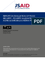 Usa Aid Food Security Poverty Alleviation in Arid Agriculture Balochistan