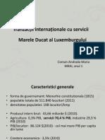 Tranzacții internaționale cu servicii