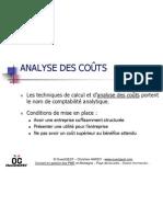 Analyse des coûts