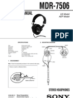 Sony MDR-7506 Service Manual
