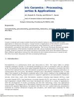 Applications of Ferroelectric Ceramic Materials