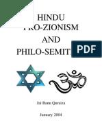 Hindu Pro-Zionism and Philo-Semitism
