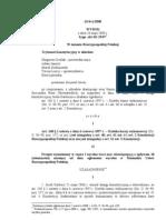 TK- wyrok SK 25/07 w sprawie przeludnienia w zakładach karnych