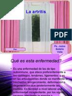 La Artritis. Ps. Jaime Botello Valle