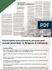 Sexual Minorities in Belgium & Lithuania (by Noreikaite Elinga)