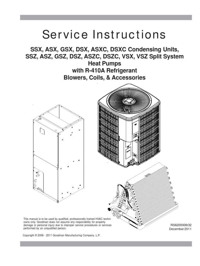 410a Condensing Unit Diagram Car Wiring Diagrams Explained Aac Service Manual R410a Rs6200006r32 1 Heat Pump Air Conditioning Rh Es Scribd Com Parts