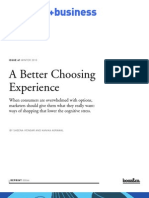 A Better Choosing Experience - Booz - July 11