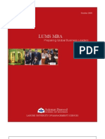 Mba Brochure LUMS