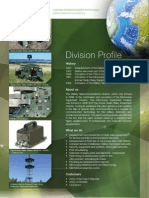 Division Profile Military Telecommunications