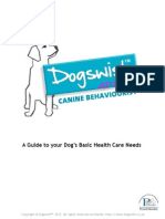 Advice  to your Dog's Basic Health Care