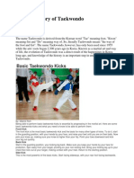 A Brief History of Taekwondo