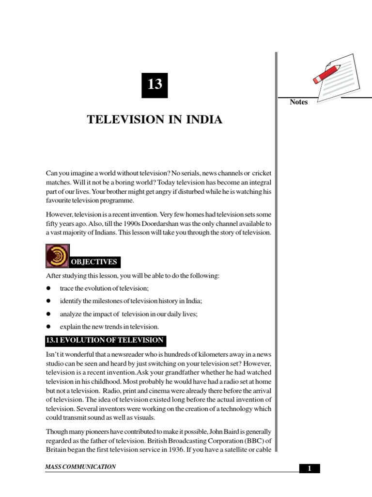 History of Television in India | Television | Broadcasting