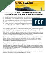 NY Solar Jobs Env Memo