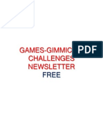 Games Gimmicks Challenges Newsletters