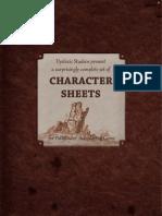 Pathfinder Character Sheets