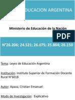 Leyes Nacionales de Educacion