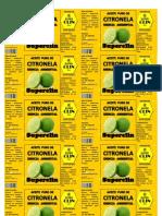 Aceite Puro de Citronela