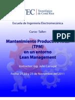 Curso Mantenimiento Productivo Total (TPM)