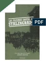 Las Ultimas Cartas de Stalingrado Anthony Beevor