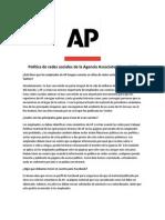Política de redes sociales de la agencia AP