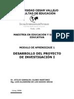 Desarrollo  del proyecto de Investigación-Educacion - Modulo 1 Final