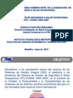 (1) Sistema de Gestión NTC-OHSAS 18001 Vs 2007 (GoNaBe) 2012