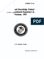 FMFRP 12-41 Professional Knowledge Gained From Operational Experience in Vietnam, 1967