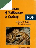 Maintenance of Rattlesnakes