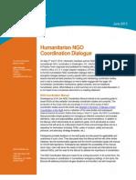 Humanitarian NGO Coordination Dialogue Mtg Note