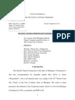 JTC Decision on Judge James