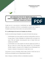 Recommandations Du Seminaire Du Gua