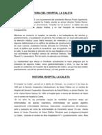 Historia Del Hospital La Caleta