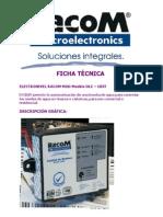 FICHA TÉCNICA ELECTRONIVEL RACOM DLC CBST