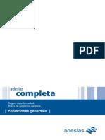 Condicionado General Adeslas Completa 2009