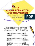 Adverb Formation and Comparison