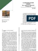 La urbanización del mundo campesino Usos y abusos en la modernización del medio rural