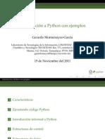 Introducción a Python con ejemplos