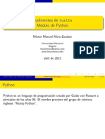 Rudimentos de turtle Modulo de Python