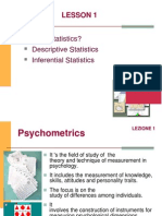 LAB. Psychometrics Lesson 1